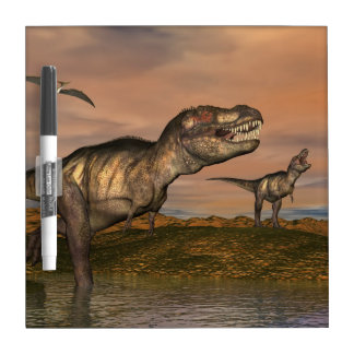 Tyrannosaurus rex dinosaurs - 3D render Dry Erase Boards