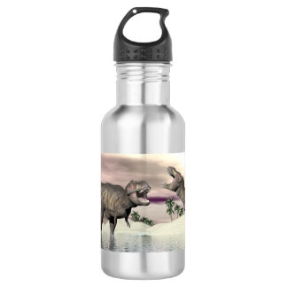 Tyrannosaurus rex dinosaurs fight - 3D render 532 Ml Water Bottle