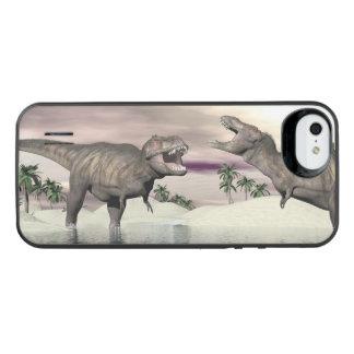 Tyrannosaurus rex dinosaurs fight - 3D render iPhone SE/5/5s Battery Case