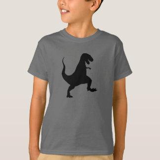 Tyrannosaurus rex Roaring and Stomping Silhouette T-Shirt