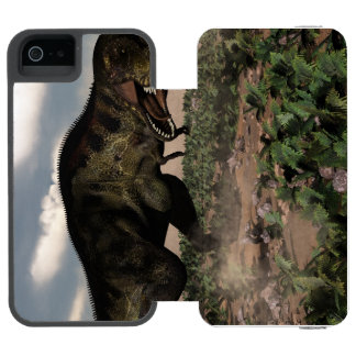 Tyrannosaurus rex roaring at a triceratops incipio watson™ iPhone 5 wallet case