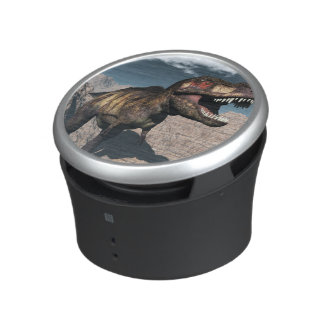 Tyrannosaurus rex roaring in a canyon speaker