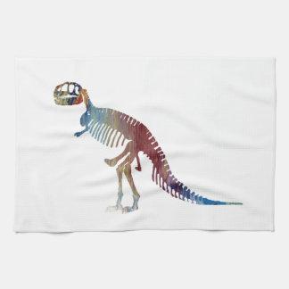 Tyrannosaurus rex skeleton art kitchen towel