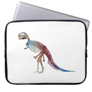 Tyrannosaurus rex skeleton art laptop sleeve