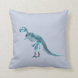 Tyrannosaurus rex skeleton art throw pillow
