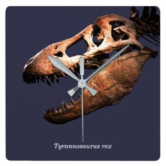 Tyrannosaurus rex square wall clock