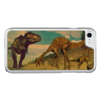 Tyrannosaurus rex surprising gallimimus dinosaurs carved iPhone 8/7 case