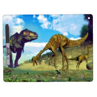 Tyrannosaurus rex surprising gallimimus dinosaurs dry erase boards