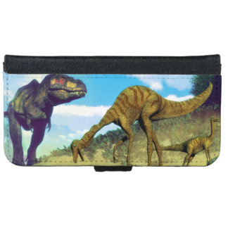 Tyrannosaurus rex surprising gallimimus dinosaurs iPhone 6 wallet case