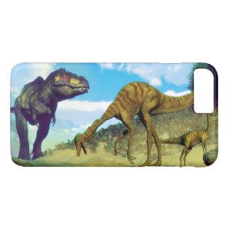 Tyrannosaurus rex surprising gallimimus dinosaurs iPhone 8 plus/7 plus case