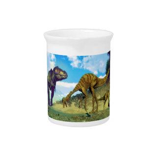 Tyrannosaurus rex surprising gallimimus dinosaurs pitcher