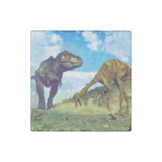 Tyrannosaurus rex surprising gallimimus dinosaurs stone magnets