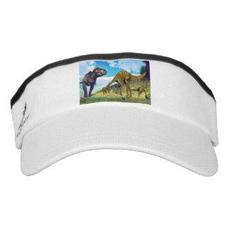 Tyrannosaurus rex surprising gallimimus dinosaurs visor