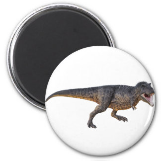 Tyrannosaurus-Rex with Yellow Coloring 2 Inch Round Magnet