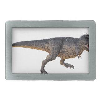 Tyrannosaurus-Rex with Yellow Coloring Rectangular Belt Buckle