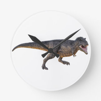 Tyrannosaurus-Rex with Yellow Coloring Round Clock
