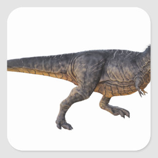 Tyrannosaurus-Rex with Yellow Coloring Square Sticker
