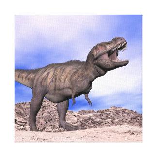 Tyrannosaurus roaring - 3D render Canvas Print