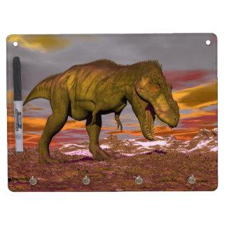 Tyrannosaurus roaring - 3D render Dry Erase Board With Keychain Holder