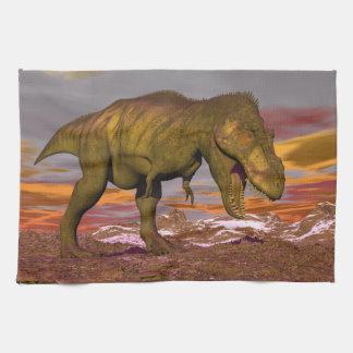 Tyrannosaurus roaring - 3D render Kitchen Towel