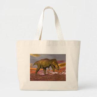 Tyrannosaurus roaring - 3D render Large Tote Bag