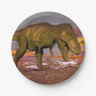 Tyrannosaurus roaring - 3D render Paper Plate