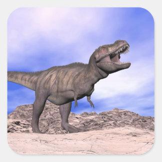 Tyrannosaurus roaring - 3D render Square Sticker