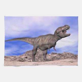 Tyrannosaurus roaring - 3D render Towels