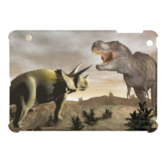 Tyrannosaurus roaring at triceratops - 3D render Case For The iPad Mini
