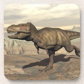 Tyrannosaurus running - 3D render Coaster