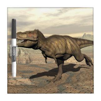 Tyrannosaurus running - 3D render Dry Erase Board
