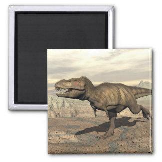 Tyrannosaurus running - 3D render Magnet