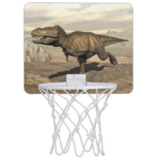Tyrannosaurus running - 3D render Mini Basketball Hoop
