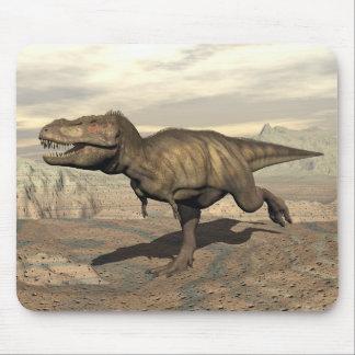 Tyrannosaurus running - 3D render Mouse Pad