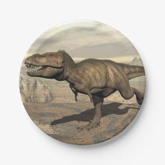 Tyrannosaurus running - 3D render Paper Plate