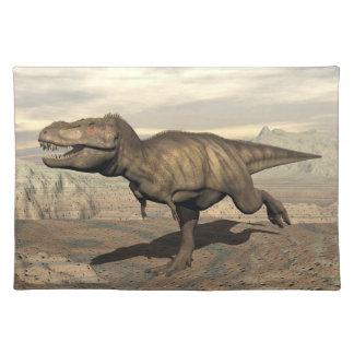Tyrannosaurus running - 3D render Placemat