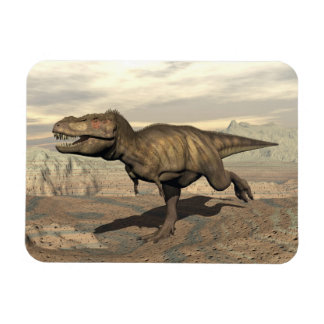 Tyrannosaurus running - 3D render Rectangular Photo Magnet