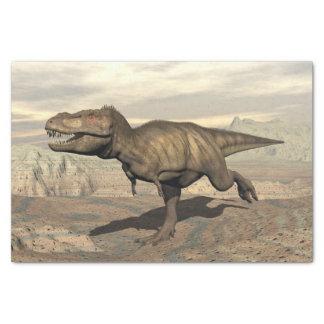 Tyrannosaurus running - 3D render Tissue Paper