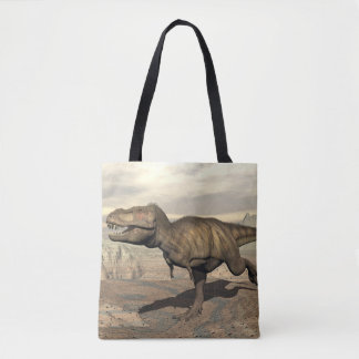 Tyrannosaurus running - 3D render Tote Bag