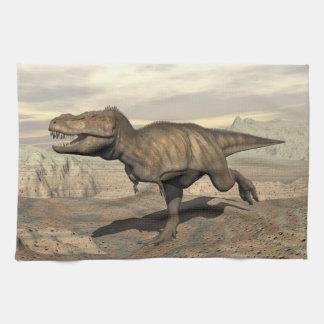 Tyrannosaurus running - 3D render Towel