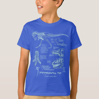 Tyrannosaurus Skeleton Shirt- Dark Royal T-Shirt