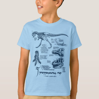 Tyrannosaurus Skeleton Shirt- Light Blue T-Shirt