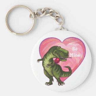 Tyrannosaurus Valentine's Day Basic Round Button Keychain