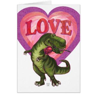 Tyrannosaurus Valentine's Day Card