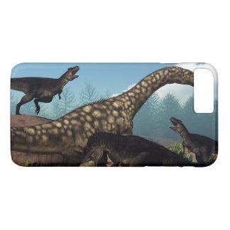 Tyrannotitan attacking an argentinosaurus dinosaur iPhone 8 plus/7 plus case
