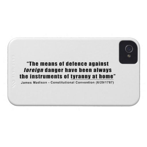 Tyranny at Home by James Madison Blackberry Bold Case