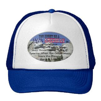 tyranny liberty trucker hat