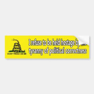Tyranny of political correctness bumper sticker