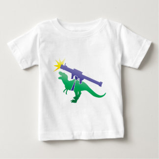 Tyranosaur rocket launcher baby T-Shirt