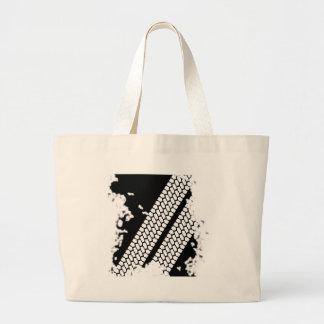 Tyre Tread Grunge Large Tote Bag